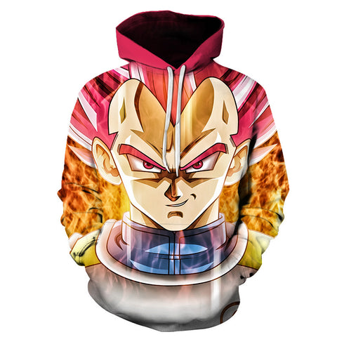 Dragon Ball Z Vegeta Super Saiyan Rose Hoodie