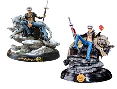 One Piece Trafalgar D Water Law Throne Leopard Action Figure
