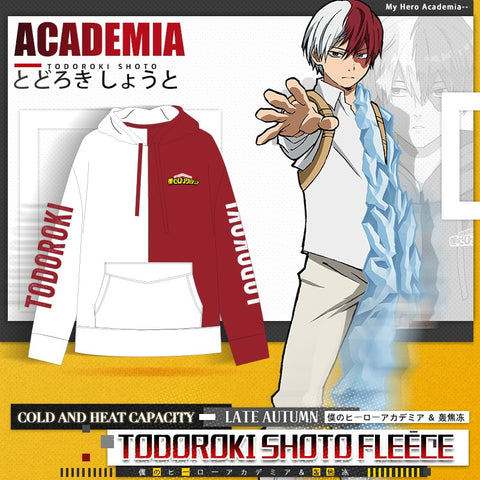 My Hero Academia Shoto Todoroki Red & White Hoodie