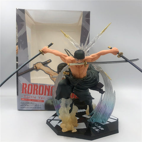 One Piece Zoro Ronoa Three Knife Figure Model Collectible