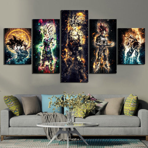 Dragon Ball Z The Royal Saiyans Art Canvas