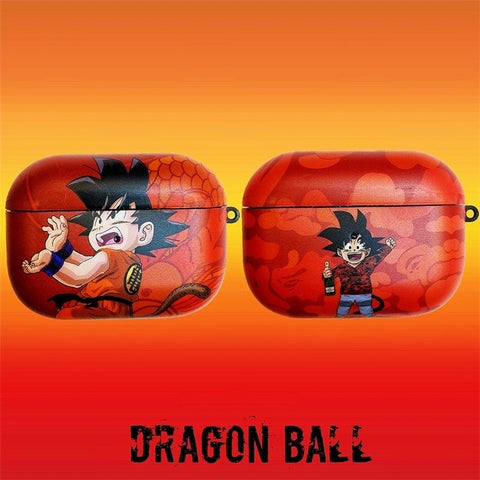 Dragon Ball Z Kid Gohan with Tail Fighting Tail AirPod Case