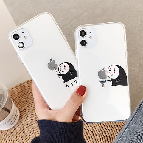 Miyazaki Hayao Spirited Away No Face Man iPhone Silicon Phone Case