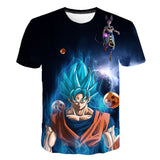 Dragon Ball Z Super Saiyan Blue Versus Beerus T-Shirt