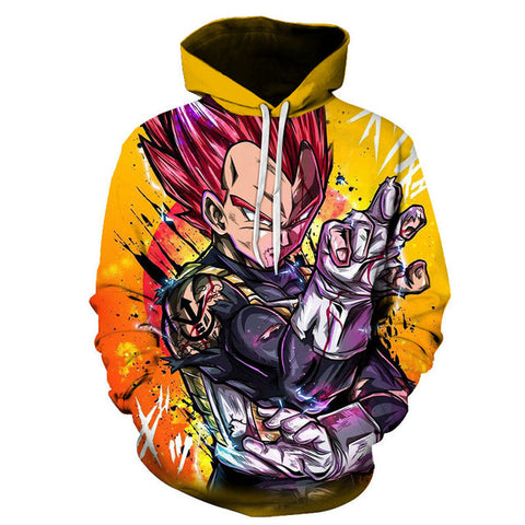 Dragon Ball Z Vegeta Street Art Hoodie