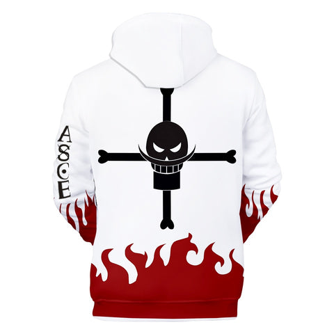 One Piece Portgas D. Ace Fire Fist Hoodie