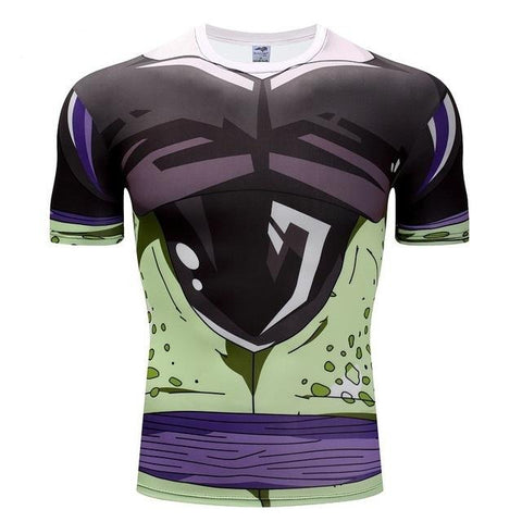 Dragon Ball Z Cell Skin Gear Compression Gym T-Shirt