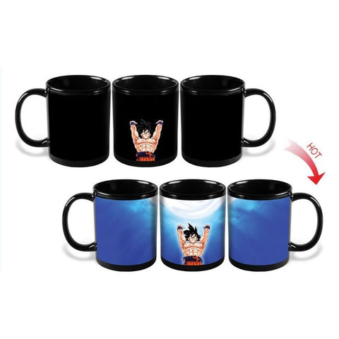 Dragon Ball Z Goku Spirit Bomb Attack Heat Sensitive Color Changing Mug Cup
