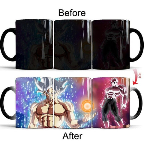 Dragon Ball Z Super Saiyan White Ultimate Battle Heat Sensitive Color Changing Mug Cup