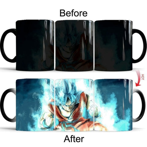 Dragon Ball Z Super Saiyan Blue Heat Sensitive Color Changing Mug Cup