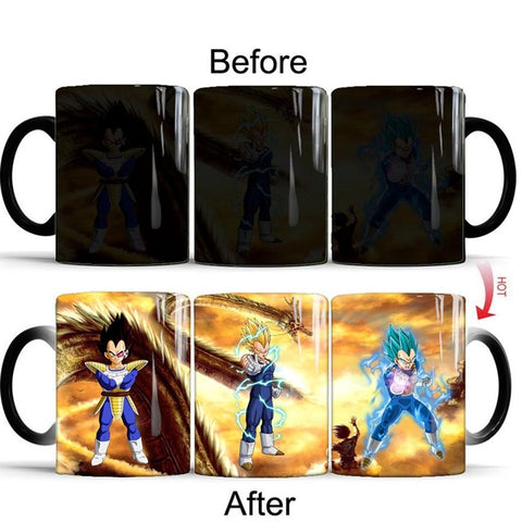 Dragon Ball Z Vegeta Battle Armor Heat Sensitive Color Changing Mug Cup