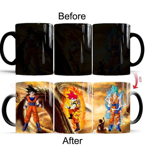 Dragon Ball Z Goku Orange Gi Heat Sensitive Color Changing Mug Cup