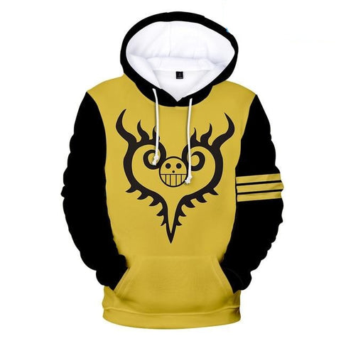 One Piece Yellow Jolly Roger Hoodie