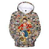 One Piece Monkey D. Luffy All Characters Hoodie