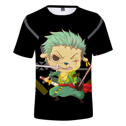 One Piece Cartoon Roronoa Zoro T-Shirt