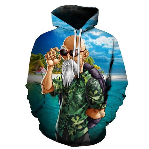 Dragon Ball Z Old Heavenly Martial Arts Master Roshi Hoodie