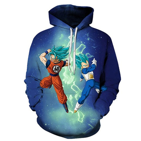 Dragon Ball Z Goku & Vegeta Super Saiyan Blue Hoodie