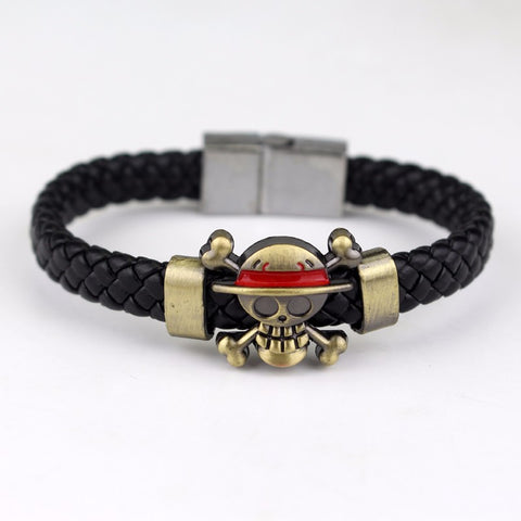 One Piece Jolly Roger Adjustable Bracelet