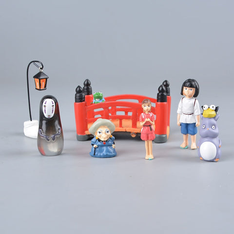 Studio Ghibli Spirited Away Chihiro Yubaba No Face Model Complete Figure Set
