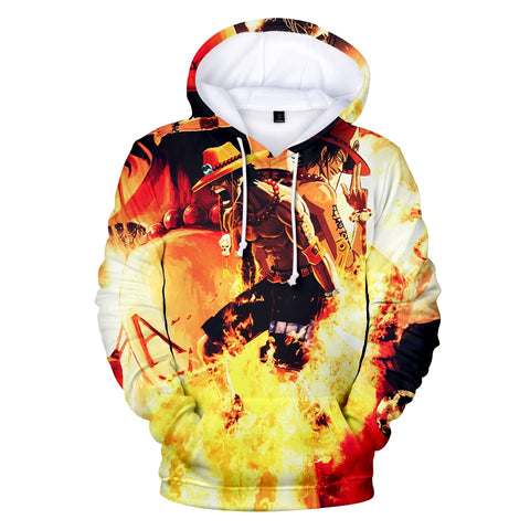 Portgas D. Ace Sound of Fire Burning Hoodie