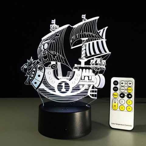 One Piece Thousand Sunny Ship LED Lamp Figure
