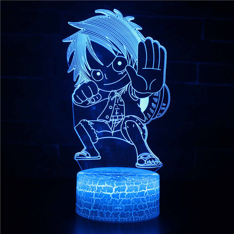 One Piece Young Monkey D. Luffy Child LED Lamp Figure