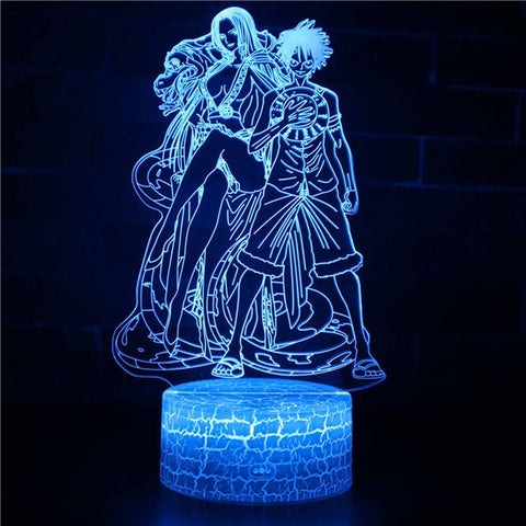 One Piece Boa Hancock & Monkey D. Luffy LED Lamp Figure