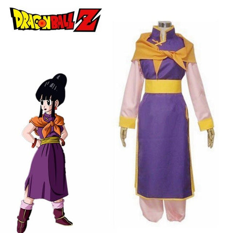 Dragon Ball Z Chi Chi Purple Uniform Cosplay Costume