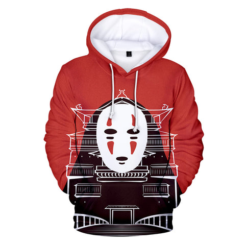 Spirited Away No Face Kaonashi Red Hoodie
