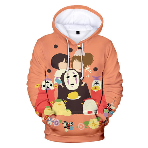 Spirited Away Characters Cartoon Hoodie