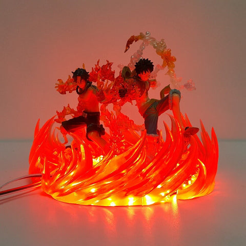 One Piece Portgas D. Ace & Monkey D. Luffy LED Lamp Figure