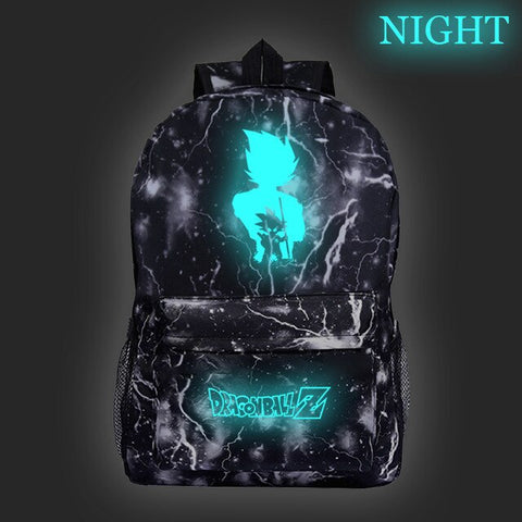 Dragon Ball Z Kid Goku Glow In The Dark Fluorescent Backpack