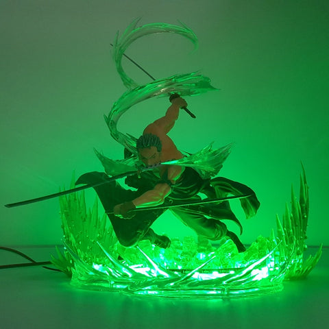 One Piece Green Roronoa Zoro LED Lamp Figure
