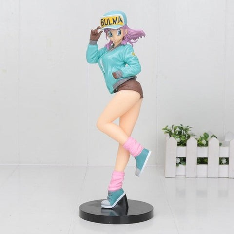 Dragon Ball Z Bulma Blue Jacket Figure Model