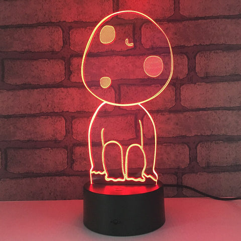 Princess Mononoke Kodama LED Night Light Lamp 7 Colors