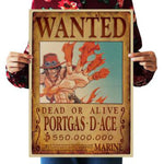 Vintage One Piece Wanted Dead Or Alive Poster
