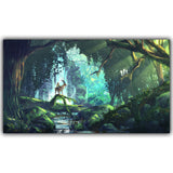 Princess Mononoke Kodama Forest Spirits Movie Poster Canvas