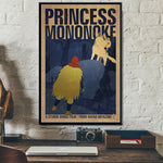 Classic Princess Mononoke Movie Poster Printed Canvas Painting