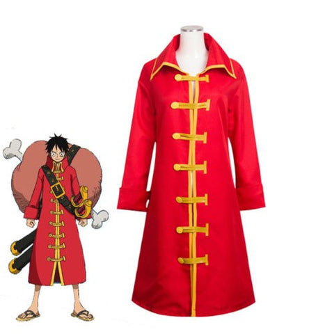 One Piece Monkey D Luffy Cloak Cosplay Costume