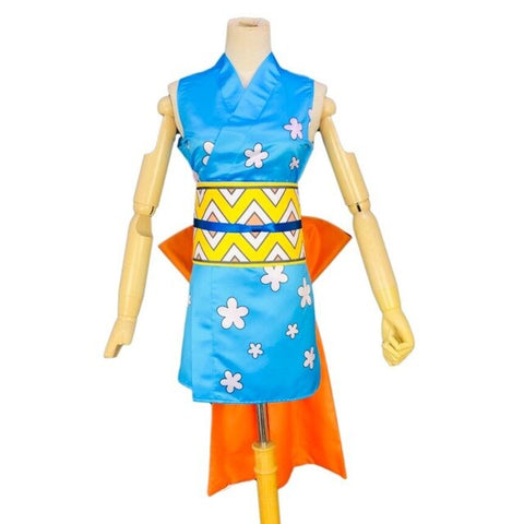 One Piece Manga Nami Blue Cosplay Costume