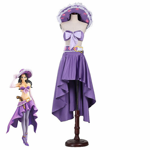 One Piece Nico Robin 15 Anniversary Purple Cosplay Costume Dress