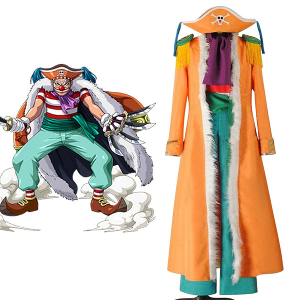 Anime One Piece Cosplay Buggy the Star Clown Flag Banner Cosplay