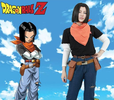 Dragon Ball Z Lapis Android 17 Complete Cosplay Costume