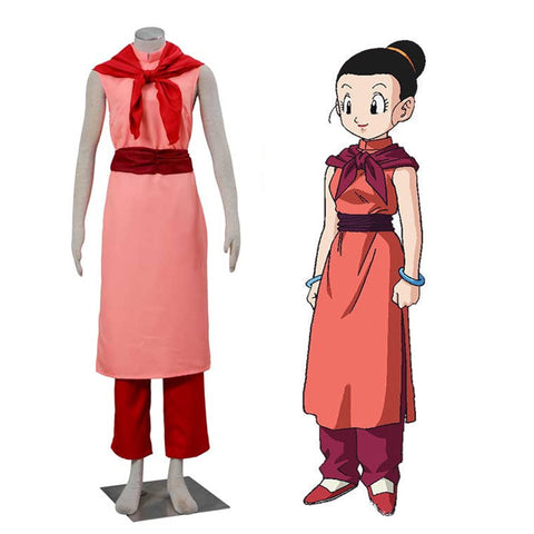 Dragon Ball Z Chi-Chi Red Cosplay Cheongsam Costume