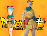 Dragon Ball Z Bulma Yellow Cosplay Costume