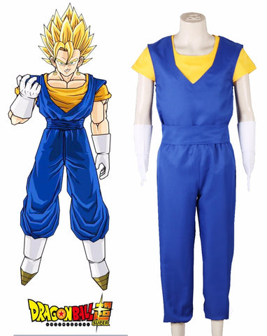 Dragon Ball Vegito Fighting Uniform Cosplay Costume