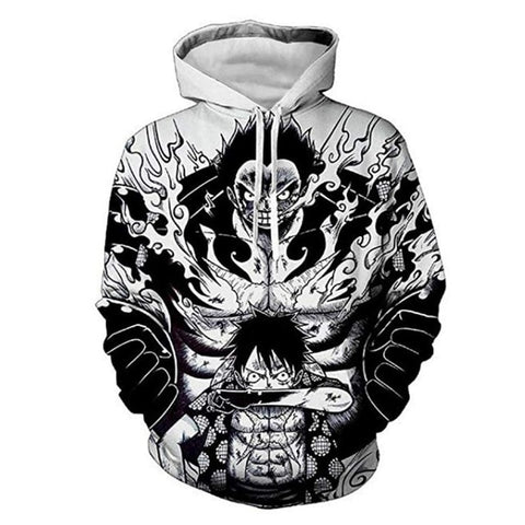 One Piece Monkey D. Luffy Gear 4 Hoodie