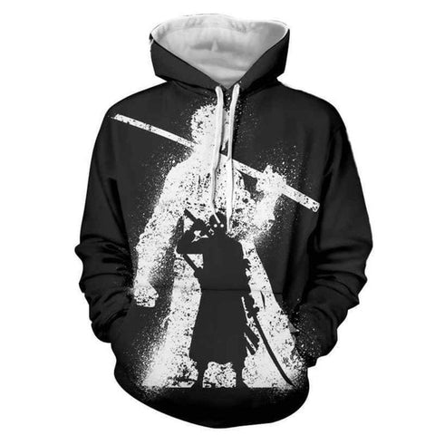 One Piece Roronoa Zoro Black & White Hoodie