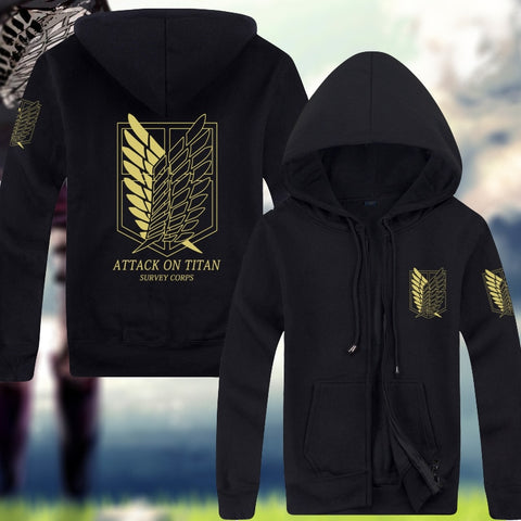 Attack on Titan Survey Corps Zipped Hoodie