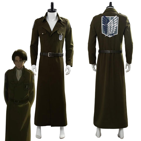 Attack on Titan Levi Ackerman Scouting Legion Trench Coat Jacket